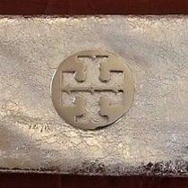Tory Burch Metallic Silver Clutch Photo