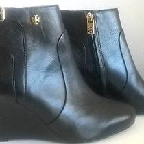 Tory Burch Milan Wedge Black Boot Size 8 M Photo