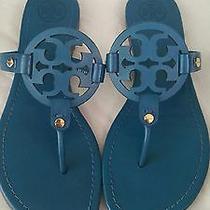 Tory Burch Miller Blue Patent Flat Thong Sandals (Women's 8.5 U.s.) Photo