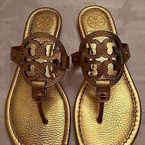 Tory Burch Miller Metallic Sandal (Size 7 Gold) Photo