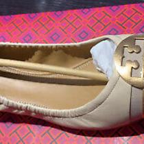Tory Burch Minnie Metallic Cap Toe Ballet Flat - Dulce De Leche/gold size10.5new Photo