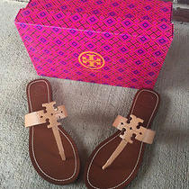Tory Burch Moore Flat Thong Sandals Size 10 M Royal Tan New With Box  Photo