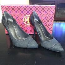 Tory Burch Navy Blue High Heels Pumps Women Sz 7 M Photo