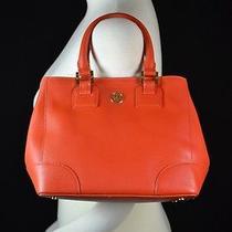 Tory Burch Nwt Robinson Saffiano Small Mini Square Tote Wildberry Orange Bag New Photo