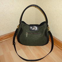 Tory Burch Olive Heather/black Leather Edye Hobo Bag Photo