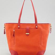 Tory Burch Orange Clay Small Colorblock Tote Bag Nwt Photo