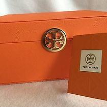 Tory Burch Orange Signature Fragrance Makeup Cosmetic Storage Jewelry Box Photo