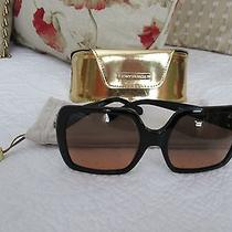 Tory Burch Oversized Square Black Women's Sunglasses (Ty 7058) - Euc Photo