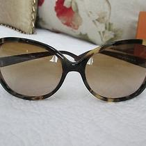 Tory Burch Oversized T-Hinge Brown Tortoise Women's Sunglasses (Ty 7022) - Euc Photo
