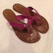 Tory Burch Patent Magenta Sandals Size 7.5 Photo