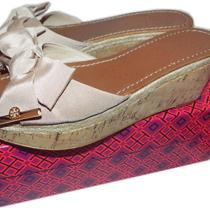 Tory Burch Penny Wedge - Camilla Pink Wedge Sandals Shoe Bow Clogs 8.5- 38.5 Photo