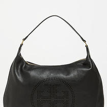 Tory Burch Perforated Logo Hobo - Black - Nwt Photo