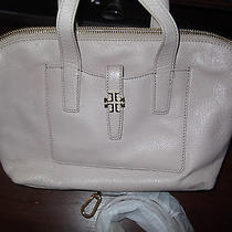 Tory Burch Plaque Satchel Blush Pink Pebbled Leather  Photo