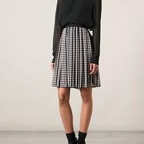 Tory Burch Raisa Skirt Blush and Black Polka Dots Nwt Size 10 350 Pleated Skirt Photo