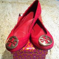 Tory Burch Red Quinn Quilted Flats With Gold Photo