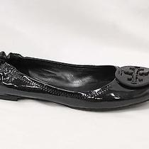 Tory Burch Reva Black Patent Leather Ballet Flats Sz 9.5 Photo