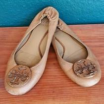 Tory Burch Reva Camel Colored Flats Women Size 8m Slip on Preowned Free Ship Photo