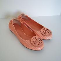 Tory Burch Reva Lizard-Embossed Patent Leather Ballet Flats Size 4-Nwob Photo