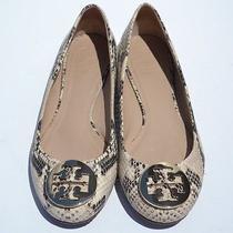 Tory Burch Reva Snake Ballet Flats Size 7 (New Model) Photo
