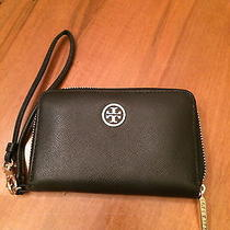 Tory Burch Robinson Black Leather Iphone/wallet  Photo