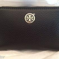 Tory Burch Robinson Pebbled Smartphone Wristlet - Iphone & Samsung - Black - Nwt Photo