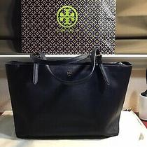 Tory Burch Robinson Tote Large Navy  Photo
