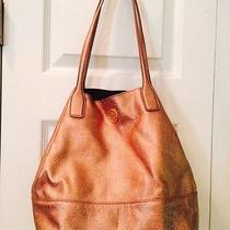 Tory Burch Rose Gold Leather Handbag Photo