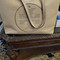 Tory Burch  Sand Leather Large Hobo Handbag Msrp 499 Photo