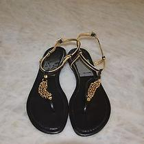 Tory Burch Shane-Mestico Gold Chain Sandals 9  Photo