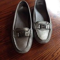 Tory Burch Silver Loafers Photo