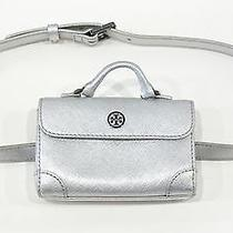 Tory Burch Silver Robinson Metallic Waist Pack Belt Nwt 225 Photo