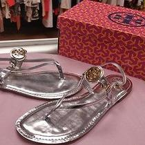 Tory Burch Size 10 Silver Thong Flat Sandals New Nwb Photo