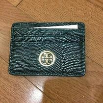Tory Burch Slim Brittany Card Case Color Deep Sea Nwt   Photo