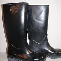 Tory Burch Solid Black Rain Boot Sz  7 New Store Demo Without Box Photo