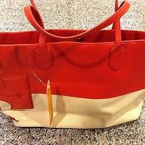 Tory Burch T Stacked Tote Lobster/red Color Photo