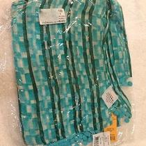 Tory Burch Tahitian Turquoise Painted Links Scarf Nwt Photo