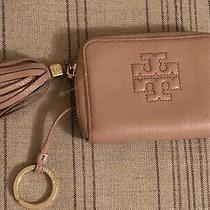 Tory Burch Thea Tassel Leather Keyring Wallet Blush Pink Guc Photo