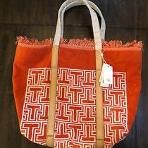Tory Burch Towel Tote - Orange Beach Bag Photo