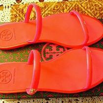 Tory Burch Two-Band Jelly Slide Sandal Sz 9  Pink Photo