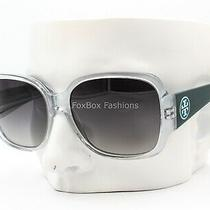 Tory Burch Ty 7047 1147/t3 Sunglasses Clear & Green / Blue Logo / Gray Polarized Photo