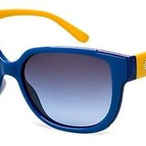 Tory Burch Ty9023 Designer Sunglasses Blue Mustard Gradient 57mm Acetate 100% Uv Photo