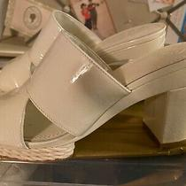Tory Burch Varenna Mule Espadrilles Sandals Heels White Ivory 8 Rare 350 Photo