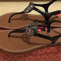 Tory Burch 'Violet' Patent Leather Thong Sandal  Photo