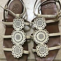 Tory Burch White Sandals Size 8 Photo