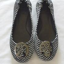 Tory Burch  Women Ballet Flats  Leather  Black White Sz-7.1/2 M Photo
