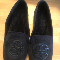 Tory Burch Women Blue Suede Shoes Slip on Flats Size 8 M Photo