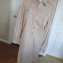 Tory Burch Women's Khaki Shirt Dress (Brigitte Mini) Size 10 Nwt 325 Photo