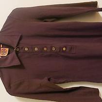 Tory Burch Womens Brown Cotton Tshirt Sizexs Photo