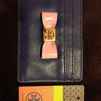Tory Burch Womens Purple Bow Slim Card Case Photo