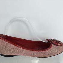 Tory Burch Womens Red/white Flats 8.5 M Photo